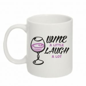Kubek 330ml Wine a little laugh a lot