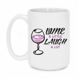 Mug 450ml Wine a little laugh a lot - PrintSalon