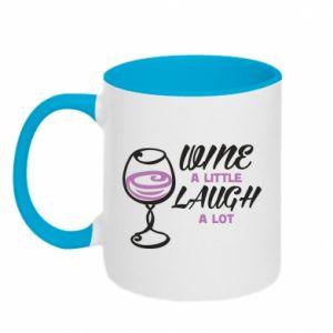 Two-toned mug Wine a little laugh a lot - PrintSalon
