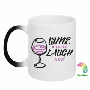 Kubek-kameleon Wine a little laugh a lot