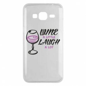 Phone case for Samsung J3 2016 Wine a little laugh a lot - PrintSalon