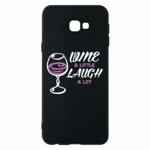 Phone case for Samsung J4 Plus 2018 Wine a little laugh a lot - PrintSalon