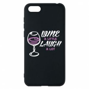 Etui na Huawei Y5 2018 Wine a little laugh a lot