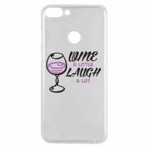 Phone case for Huawei P Smart Wine a little laugh a lot - PrintSalon