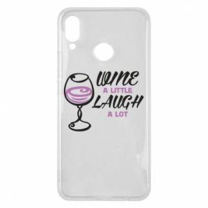 Phone case for Huawei P Smart Plus Wine a little laugh a lot - PrintSalon