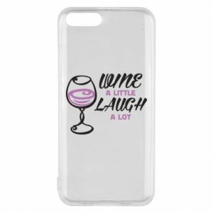 Phone case for Xiaomi Mi6 Wine a little laugh a lot - PrintSalon