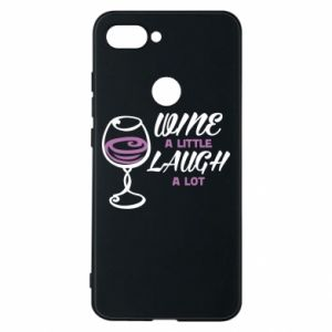 Phone case for Xiaomi Mi8 Lite Wine a little laugh a lot - PrintSalon