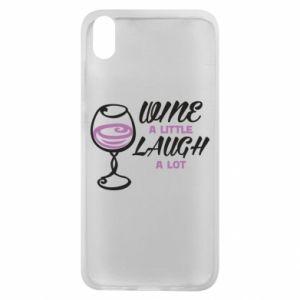 Phone case for Xiaomi Redmi 7A Wine a little laugh a lot - PrintSalon