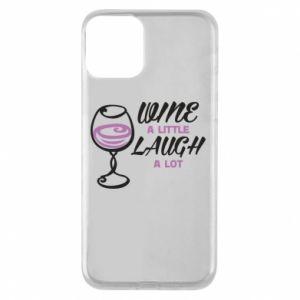 Etui na iPhone 11 Wine a little laugh a lot