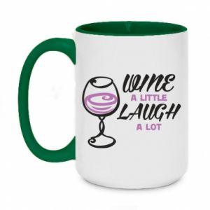Kubek dwukolorowy 450ml Wine a little laugh a lot