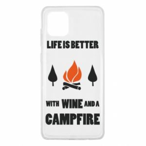 Samsung Note 10 Lite Case Wine and a campfire