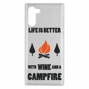 Samsung Note 10 Case Wine and a campfire