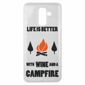 Samsung J8 2018 Case Wine and a campfire
