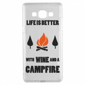 Samsung A5 2015 Case Wine and a campfire