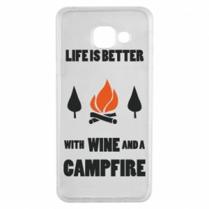 Samsung A3 2016 Case Wine and a campfire