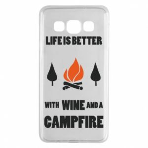 Samsung A3 2015 Case Wine and a campfire