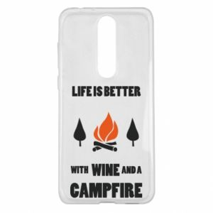 Nokia 5.1 Plus Case Wine and a campfire