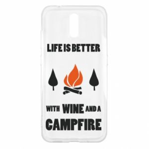 Nokia 2.3 Case Wine and a campfire