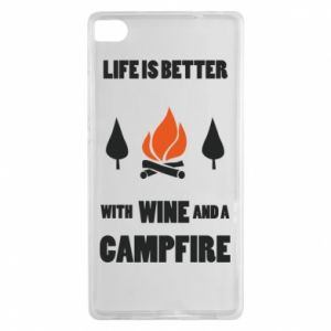 Huawei P8 Case Wine and a campfire