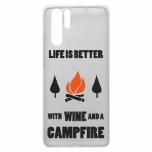 Huawei P30 Pro Case Wine and a campfire
