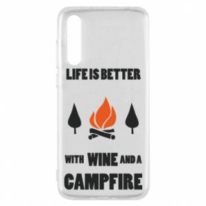 Huawei P20 Pro Case Wine and a campfire