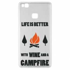 Huawei P9 Lite Case Wine and a campfire