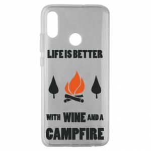 Huawei Honor 10 Lite Case Wine and a campfire