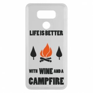 LG G6 Case Wine and a campfire
