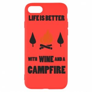 iPhone SE 2020 Case Wine and a campfire