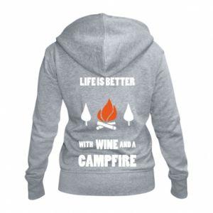 Damska bluza na zamek Wine and a campfire