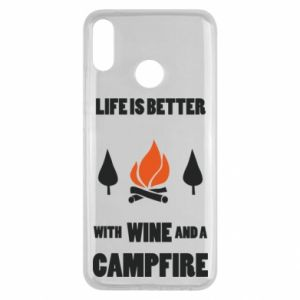Huawei Y9 2019 Case Wine and a campfire