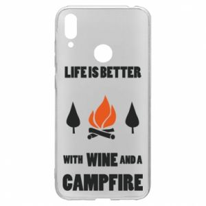 Huawei Y7 2019 Case Wine and a campfire