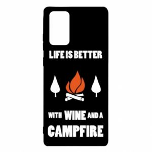 Samsung Note 20 Case Wine and a campfire