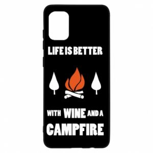 Samsung A31 Case Wine and a campfire