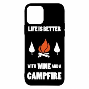 iPhone 12/12 Pro Case Wine and a campfire