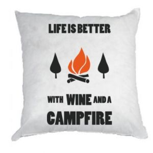 Poduszka Wine and a campfire