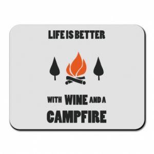 Podkładka pod mysz Wine and a campfire