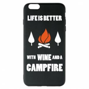 Etui na iPhone 6 Plus/6S Plus Wine and a campfire