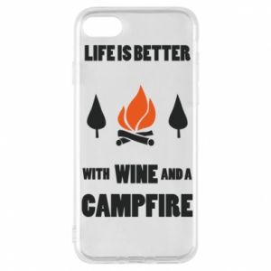 Etui na iPhone 7 Wine and a campfire