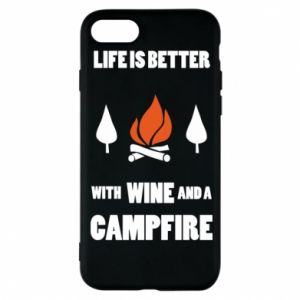 Etui na iPhone 8 Wine and a campfire