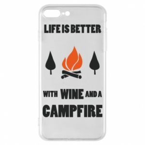 Etui na iPhone 8 Plus Wine and a campfire