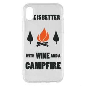 Etui na iPhone X/Xs Wine and a campfire - PrintSalon