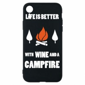 Etui na iPhone XR Wine and a campfire - PrintSalon