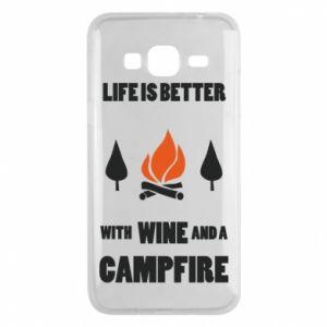 Etui na Samsung J3 2016 Wine and a campfire