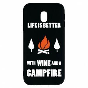 Etui na Samsung J3 2017 Wine and a campfire