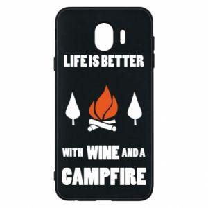 Etui na Samsung J4 Wine and a campfire