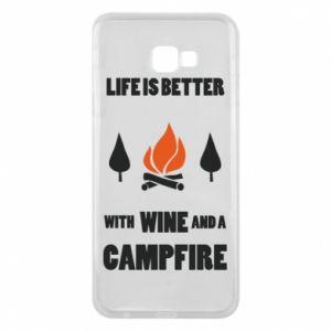 Etui na Samsung J4 Plus 2018 Wine and a campfire
