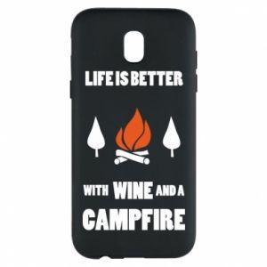 Etui na Samsung J5 2017 Wine and a campfire