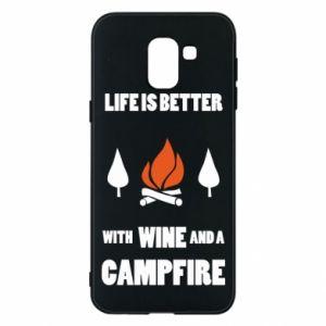 Etui na Samsung J6 Wine and a campfire