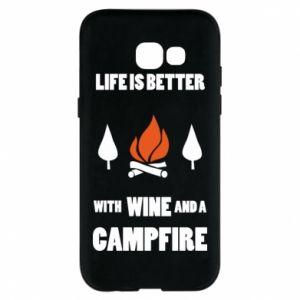 Etui na Samsung A5 2017 Wine and a campfire